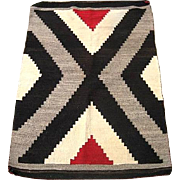Vintage Circa 1900 Navajo American Indian Rug