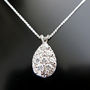 Lady�s 14K Vintage Diamond Pendant