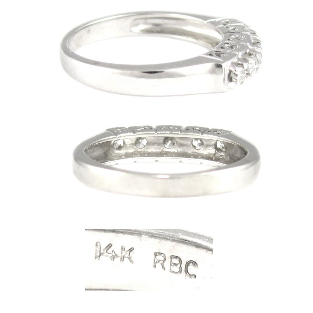14k white gold wedding eternity band ring hearts