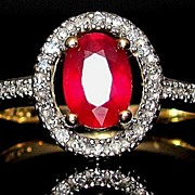 SOLD Stunning Vintage 14k Ruby & Diamond Ring