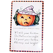 SALE Whitney: Halloween Greetings Postcard - Marked