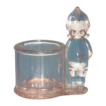 Clear Glass Kewpie Candy Holder/Container - Marked