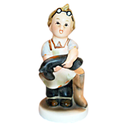 "SALE Napco ""Boots"" Handpainted Porcelain Figurine - Marked"