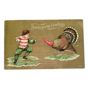 Thanksgiving Greetings 1909 Postcard