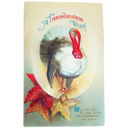 E. Clapsaddle: Thanksgiving Wish Postcard - 1910