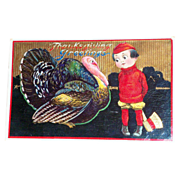 B&S: Thanksgiving Greetings Postcard - 1913