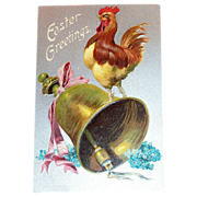 Easter Greetings: Rooster On Large Bell - Marked