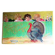 SALE Thanksgiving Greetings Postcard
