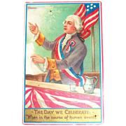 Chapman: The Day We Celebrate Patriotic Postcard - Marked