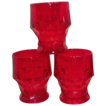 Anchor Hocking Ruby Red Georgian Honeycomb Juice Glass