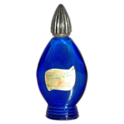 Evening in Paris Cobalt Blue Glass Perfume Bottle - Marked