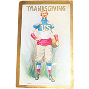 Uncle Sam &quot;World's 20th Century Champion&quot; Thanksgiving Postcard