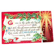 B&S: &quot;Old Christmas&quot; Scroll & Poem Postcard