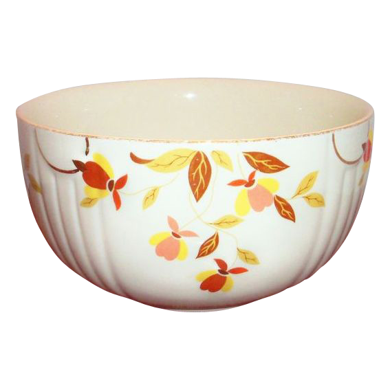 Hall autumn leaf jewel tea 9 quot rd mixing bowl marked from
