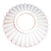White Milk Glass Hurricane Lamp Smoke Deflector