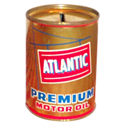 Advertising: Atlantic Premium Motor Oil Tin Bank - Marked