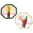 1950s Coca Cola Sprite Boy Cardboard Coasters