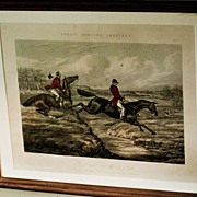 REDUCED Set of Four English Fox Hunting Prints from Fore's Hunting Sketches