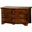 Miniature Walnut Biedermeier Chest w. Secret Drawers.