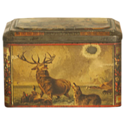 REDUCED 19th Century Colmans Mustard Tin with Interior Paper Label