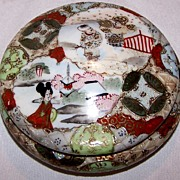 SALE Beautiful Kutani Porcelain Box from Japan!!