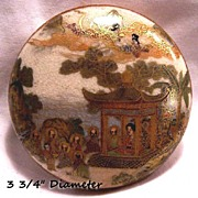 SALE-Beautifully decorated Satsuma Pottery Box!!