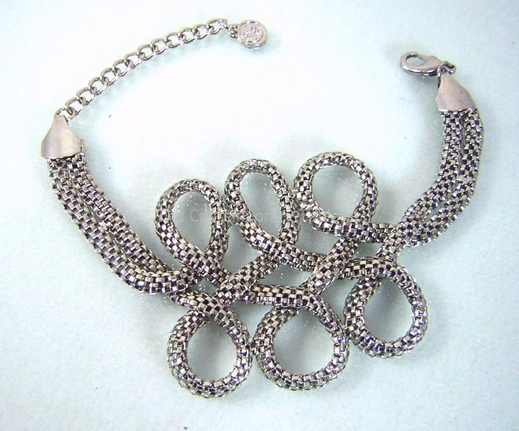 Triple Loop Mesh Rope Bracelet NEW! from thecontemporarytabletop on Ruby Plaza :  fashion affordable jewelry bracelets