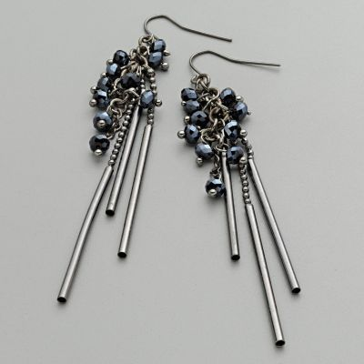 Super Chic Cobalt Blue Accent Dangle Earrings NEW! from thecontemporarytabletop on Ruby Plaza :  earrings jewelry