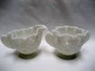 Fenton Milk Glass Daisy and Button Star Shaped Creamer and Sugar