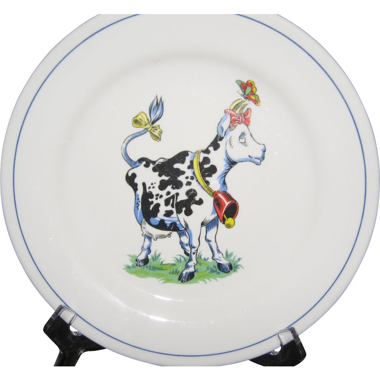 Homer Laughlin China Cow Plate