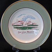 Taylor, Smith, Taylor Zane Grey Museum Plate