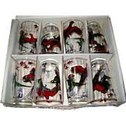 Set of 8 Pheasant Drinking Glass - Boxed