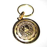 University of Notre Dame Goldtone Key Ring
