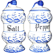 Arnart Japan Blue Onion Salt and Pepper Shakers