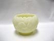 Fenton Custard Satin Water Lily Rose Bowl