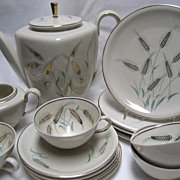15 Pc. Schirnding Bavaria Dessert Set - Wheat Pattern