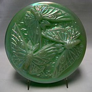Fenton Sea Green Satin Bon Bon/Puff Box