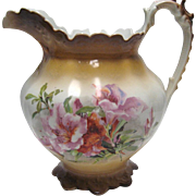 Smith Phillips Semi Porcelain Pitcher - Floral Design