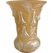 Phoenix Glass Bluebell Vase, w/ Reuben Line Label, Ca. 1934