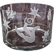 Etched Crystal &quot;Matisse&quot; Bowl