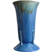 Fabulous Roseville Pottery Tourmaline Vase #A429-9, Futura Shape, Ca. 1933