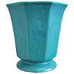 Large Hexagonal Cowan Pottery Vase #V-40, &quot;Azure&quot; Matrix Glaze, Ca. 1930