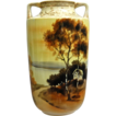 Noritake Nippon Xanthic Hand Painted Scenic Vase
