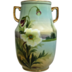 Noritake Nippon Hand Painted Scenic Vase w/Poppies