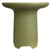 Large Hyalyn Pottery Vase #451, Matte Green