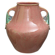 Large Roseville Pottery Tuscany Vase #348-10, Pink