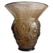 Verlys France �Alpine Thistle� Vase, Smoky Topaz, Ca. 1932