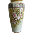 Stunning Noritake Nippon 10 Enameled Jewel Dogwood Vase