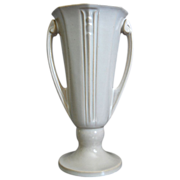 Roseville Pottery &quot;Ivory&quot; Vase #696-8, Russco Shape, Ca. 1936