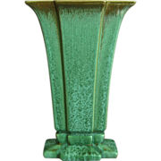 "Cowan Pottery Modernist Vase #V-851, ""Antique Green"", Ca. 1928"